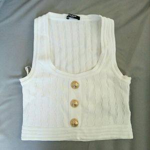 Authentic Balmain crop top in size small